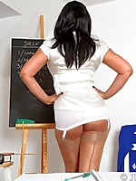 School Mistress Danica knows how to control an unruly class - Granny Girdles